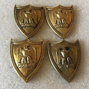 """4 BRASS EAGLE DOOR DECORATIONS 2 1/8"""" by 2 3/4"""" #504"""