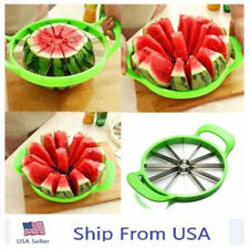 Kitchen Tool Fruit Watermelon Cutter Slicer Melon Cantaloupe Stainless Stee