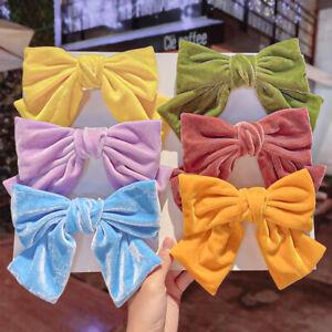 Velvet Big Bow Hair Pin Clip Women Lolita Barrette Spring Clip Hair Accessories
