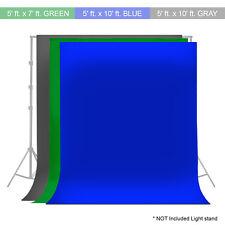 Photography Photo Video Studio Backdrop Green Blue Gray Background Muslin 3SET