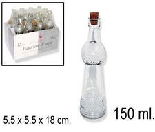 12 bottiglie in vetro bottigliette con tappo sughero da 150 ml limoncello succo