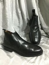 Mens OAKTRAK black leather chelsea boots size 12 pull on smart casual