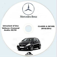 Istruzioni d'Uso Mercedes Classe A (W169) 2010/2012,set completo,Mercedes Comand