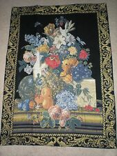 """Jarre De Fleurs French Tapestry Wall Hanging 38"""" x 27"""" (97 x 69cm) Floral"""
