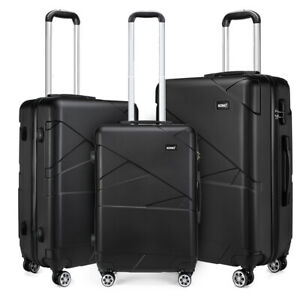 Hard Shell Travel Luggage Trolleys Lightweight Cases Hand Suitcase 20''24''28''