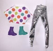 Barbie and Rockers Drum Doll Outfit Polkadot Top Pants Shoes/Boots NEW Drummer