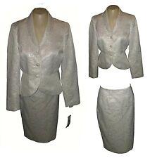 Suit 2PC: Blazer & Skirt, Kasper Metallic Evenings Ivory-Silver MSRP-$280.00 6