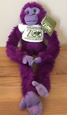 "Philadelphia Zoo PURPLE MONKEY 16"" stuffed plush w/Tag The Petting Zoo"