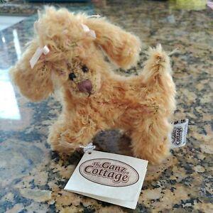 "Ganz Cottage Collectible Plush Dog Poodle Apricot by Lorraine Chien 4"" across"