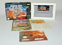 Populous SNES Complete CIB w/ Box, Manual, Registration, Poster GOOD CONDITION!