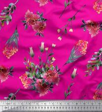Soimoi Stoff Blätter & Lantana Blumen- Dekorstoff 1 Meter bedruckt - FL-419F