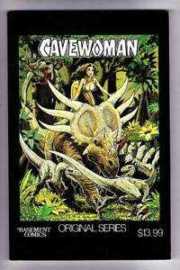 CAVEWOMAN by Budd Root - 1996 Basement Comics #1-6 paperback & signed bookplate