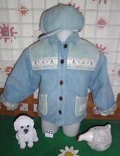 veste blouson velours occasion fille  taille 2 ans ,bonnet