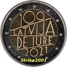 NEW !!! 2 EURO COMMEMORATIVO LETTONIA 2021 DE IURE NEW !!!