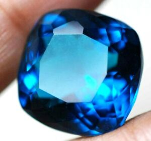 23.00 Ct Natural Afghani Blue Indicolite AAA++ AGSL Certified Cushion Cut Gem