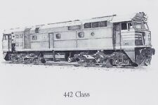 442 CLASS DRAWING ON WHITE ALUMINIUM SHEET
