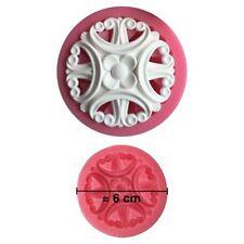 Moule silicone 3D Rosace pour pâte à sucre, cake design, décoration gateau...