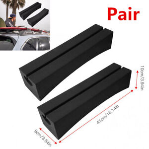 Pair EVA Soft Oval Car Roof Racks Bars For Surfboard Kayak Stand-up Paddle Board