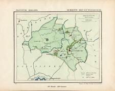 ANTIQUE MAP-NETHERLANDS-TOWN PLAN-OOST SOUBURG-ZEELAND-Kuyper-Kuijper-1865