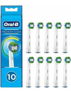 10 Testine di Ricambio Sostitutive Braun Oral-B Precision Clean TESTINE ORIGINAL