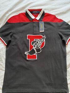 Ralph Lauren Mens Polo Shirt Top P-Wing 1992 Vintage Black Medium M NEW BNWT