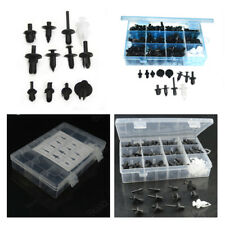 196 pcs Black Plastic Drive Car Push Pin Rivet 12 Sizes Exterior Trim Panel Clip
