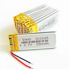 10 x 3.7V 250mAh Lipo Rechargeable Battery For Bluetooth watches mp3 gps 301645
