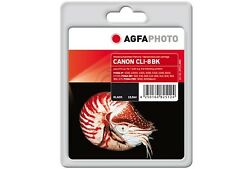 AGFA PHOTO CLI-8bk OVP NEW / pixma ip 4200 / more Ink Content 15,5ml