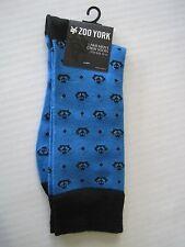 ZOO YORK Men's Blue & Black Anchor Crew Socks One Size Fits 10-13 NWT
