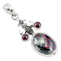 13.34cts Natural Pink Eudialyte Garnet 925 Sterling Silver Pendant P56853