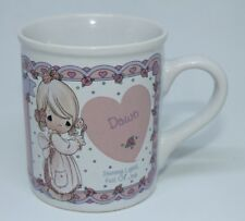 "1994 Precious Moments "" Dawn "" Enesco Personalized Coffee Mug Vintage Rare"