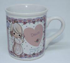 "1994 Precious Moments "" Dawn "" Enesco Personalized Coffee Mug Vintage Rare"