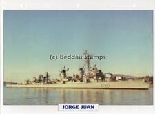 1943 JORGE JUAN (USS McGowan) Destroyer Ship Spain Warship Photograph Maxi Card