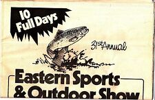 1986 Eastern Sports & Outdoor Show Harrisburg Pennsylvania 31st Anniversary