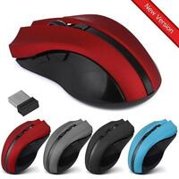 Cordless Wireless 2.4GHz Optical Gaming Mouse Mice for Laptop PC USB Receiver UK
