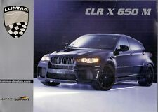 lumma clr x 650 m 2010 prospekt sales brochure in english & german bmw x6
