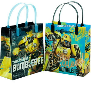 "Transformers Bumblebee Authentic Licensed Medium 8"" Party Favor Goodie 12 Bags"