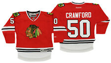 NHL Boys Kids (4-7) Chicago Blackhawks Corey Crawford #50 Premium Jersey, Red