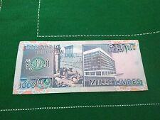 Banque du Liban Mille Livres 1000 Libano 1992 Banknotes Circulated