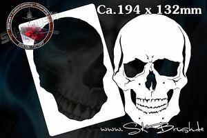 Airbrush Schablone für Schädel - Totenköpfe - Skull's Kopf