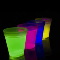 Glow Cups Glow In The Dark Party Tumbler Pack of 4 Individually Boxed