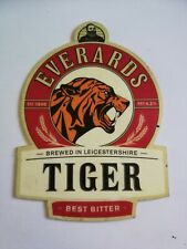 Beer pump badge clip EVERARDS brewery TIGER real ale pumpclip front Leicester