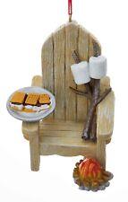Kurt Adler Adirondack Chair and Plate of Smores Ornament Resin
