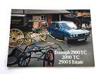 1976 Triumph 2500TC 2500S 2000TC 16-page UK Original Car Brochure Catalog