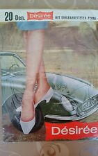 Damenstrümpfe, nur mit Halter zu tragen, mit typischen Fältchenwurf, Vintage