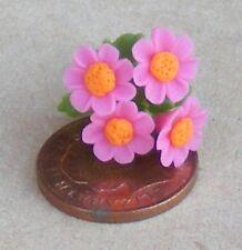 1:12 Scale Bunch Of Pink & Orange Daisies Tumdee Dolls House Flower Garden D6