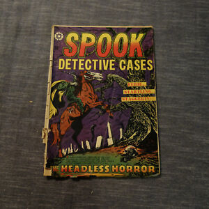 SPOOK #22 Star Publications 1953 Decapitated Head Cover POOR -(kf)