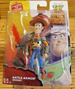 Disney Toy Story Battle Armor Woody That Time Forgot Toy Figure Sealed Retired