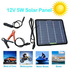 5w Portable Solar Panel Power Battery Charger Backup for Car Yacht Travel Boat