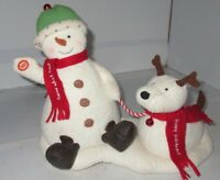 Hallmark Jingle Pals Snowman Sings Moves Puppy Dog Barks Bells Ring Music 2004